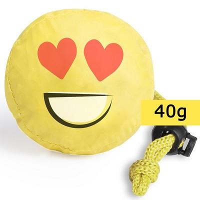 Geanta de cumparaturi pliabila - smiling face (inimioara)0