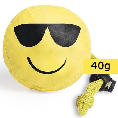 Geanta de cumparaturi pliabila - smiling face (ochelari)0