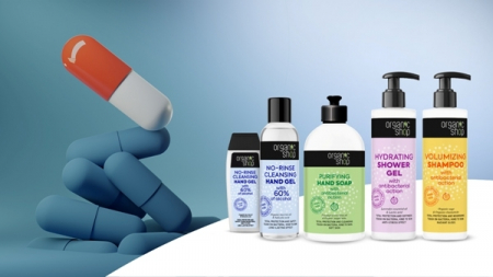 Gel de dus hidratant cu efect antibacterian, lavanda si acid lactic, 280ml - Organic Shop1