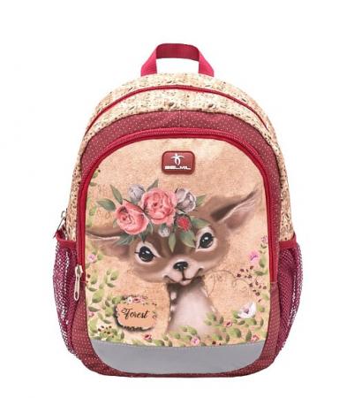 Ghiozdan de gradinita  BELMIL Kiddy Plus Animal Forest Bambi1