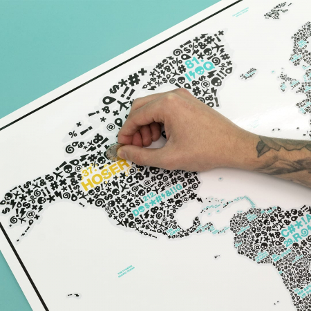 "Harta razuibila Editia "" F*#?ING WORLD "" - produs original Luckies London1"