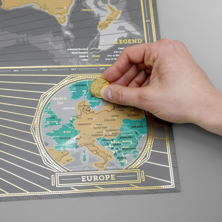 Harta razuibila Editia X Aniversara  - produs original Luckies London1