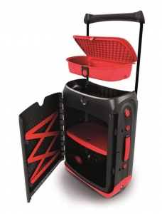 Valiza TRUNKI Jurni Magma Red2