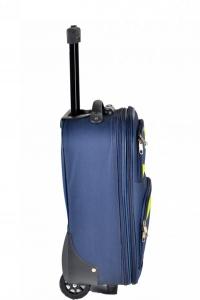 Klept Troler textil 2 roti FLY-42 Albastru cu verde0
