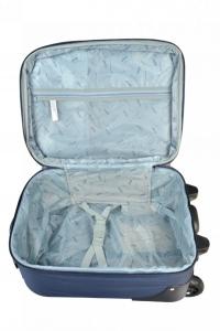 Klept Troler textil 2 roti FLY-42 Albastru cu verde1
