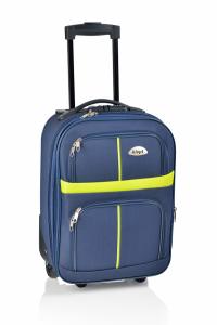 Klept Troler textil 2 roti Smart-42 Albastru cu verde0