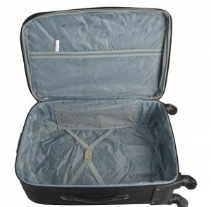 Klept Troler textil 4 roti FLY-65 Negru cu gri2