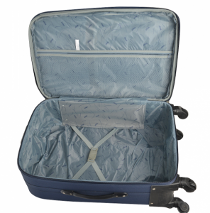 Klept Troler textil 4 roti FLY-75 Albastru cu verde [2]