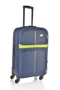 Klept Troler textil 4 roti Smart-65 Albastru cu verde0