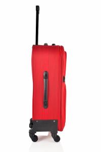 Klept Troler textil 4 roti Smart-75 Rosu cu negru2