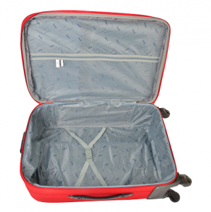 Klept Troler textil 4 roti Smart-75 Rosu cu negru1
