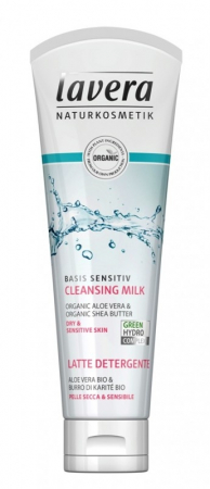 Lapte demachiant ten sensibil sau uscat cu shea & aloe, Basis Sensitiv - LAVERA