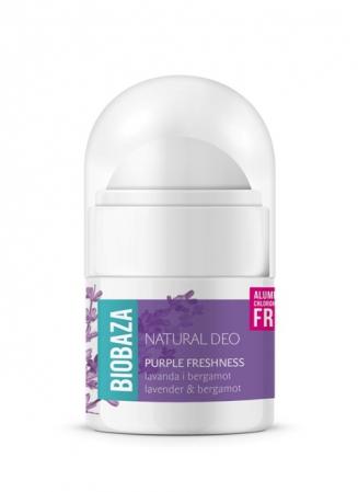 Mini deodorant natural pentru femei PURPLE FRESHNESS - 20ml
