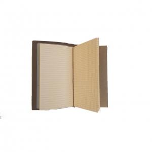 Agenda/Notebook Vintage A6 de calatorie cu coperta din Piele ecologica Maro Deschis2