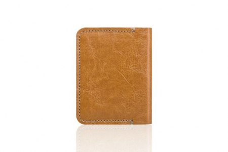 Portofel slim pentru carduri SOLIER SW11 SLIM CAMEL1
