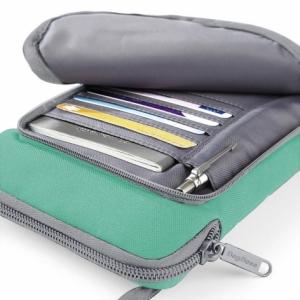 Geanta-portofel pentru calatorii verde2