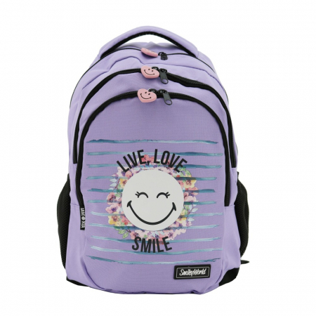 Rucsac Lamonza Smiley World Blossom 45x31x16 cm0