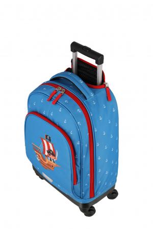 Rucsac pentru copii cu troler 4 roti Piratul   - travelite1