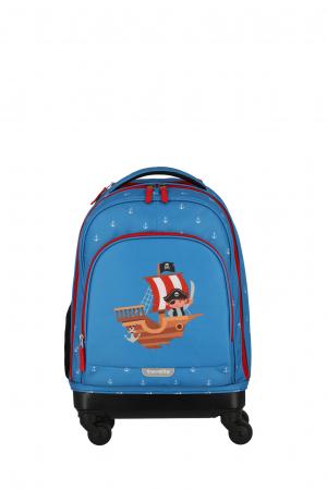 Rucsac pentru copii cu troler 4 roti Piratul   - travelite15