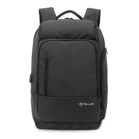 "Rucsac laptop Tellur Business XL, cu port USB, 17.3"", negru2"