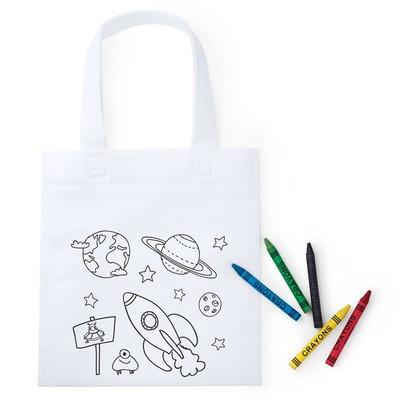 Sacosa pentru colorat cu 5 creioane - copii0