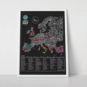 Harta Razuibila Gourmet a Europei