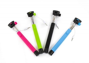 Wired Selfie Stick Tellur Z07-5 Plus, Piano Black,Plug and Play ,3.5mm jack, compatibil Apple si Samsung [1]