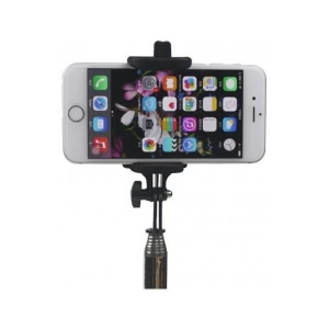 Wired Selfie Stick Tellur Z07-5 Plus, Piano Black,Plug and Play ,3.5mm jack, compatibil Apple si Samsung [3]
