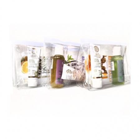 Set cosmetice cu gentuta cosmetice cadou (sampon, crema de maini, balsam de buze Miere)1