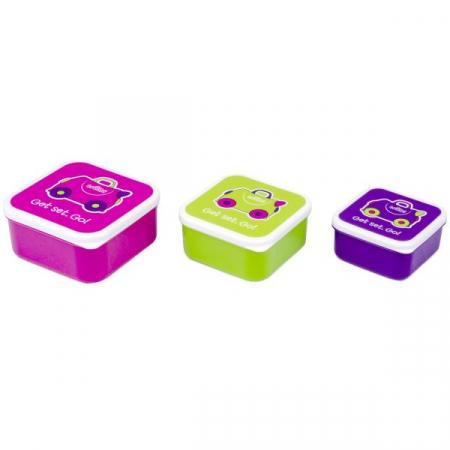 Set cutii pentru pranz Trunki - Roz1