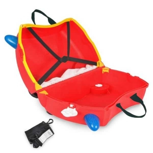 Set travel pentru copii - Valiza TRUNKI FRANK - Masina de Pompieri Rosu + Trunki Tidy Bag Blue4