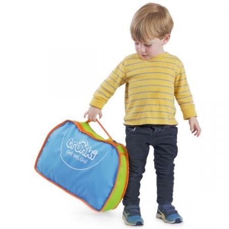Set travel pentru copii - Valiza TRUNKI FRANK - Masina de Pompieri Rosu + Trunki Tidy Bag Blue2