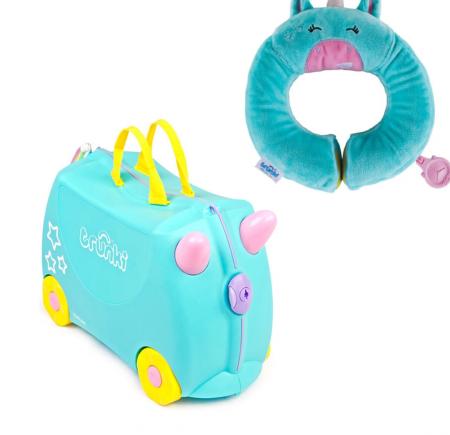 Set travel pentru copii - Valiza TRUNKI UNA - Unicornul + Perna calatorie Trunki Yondi Unicorn [0]