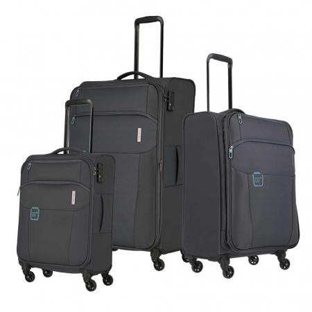 Set trolere Travelite GO 4 roti Lextensibil/M extensibil/ S - Gri antracit0
