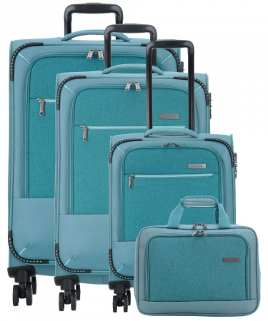 SET Trolere Travelite Arona 4 roti duble S, M, L + CADOU geanta de bord0