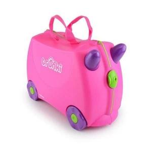 Set travel pentru copii - Valiza TRUNKI Trixie + Perna de calatorie Yondi Pink1