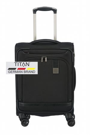 Troler de cabina Titan CEO 4 roti 55 cm - Negru0