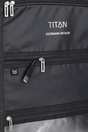 Troler de cala cu USB - TITAN XENON 4 roti 74 cm (L) - Albastru13