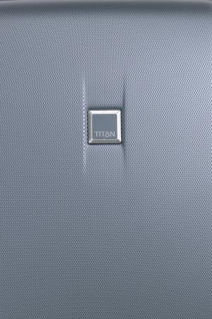 Troler de cabina cu USB - TITAN XENON 4 roti 55 cm (S) - Albastru7