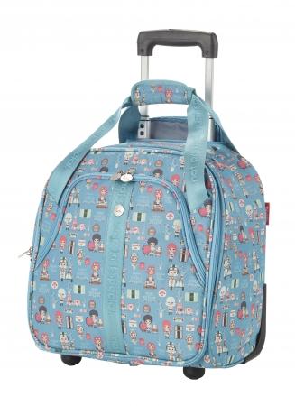 Troler LIL'LEDY 2 roti -  40 cm- TEXTIL – turquoise – travelite