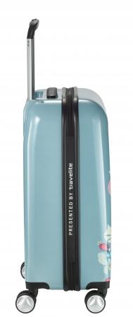 Troler LIL'LEDY 4 roti duble  S - 54 cm, albastru pudrat- travelite3