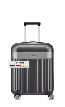 Troler TITAN - SPOTLIGHT - S - 55 cm 4 roti duble, Spotlight antracit