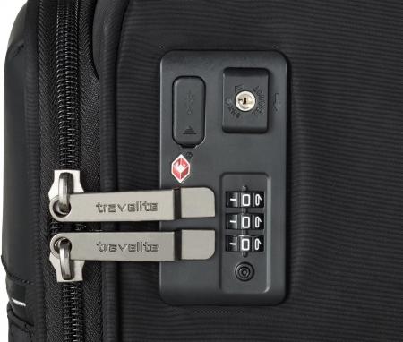 Set trolere Travelite JADE 4 roti 54cm, geanta de umar si rucsac (USB incorporat)12