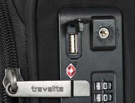 Set trolere Travelite JADE 4 roti 54cm, geanta de umar si rucsac (USB incorporat)11