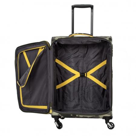 SET Trolere Travelite KITE 4w S,Mexp,Lexp - Camuflaj + Geanta de bord CADOU3