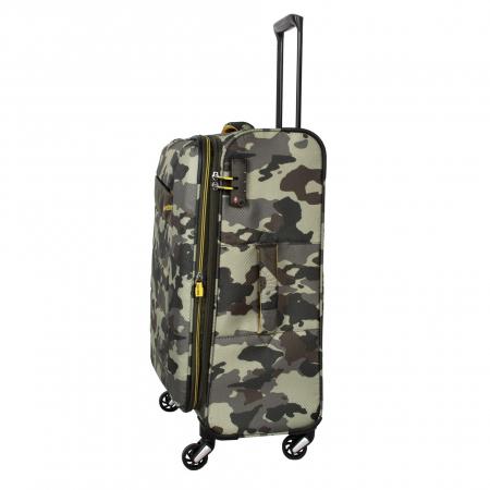 SET Trolere Travelite KITE 4w S,Mexp,Lexp - Camuflaj + Geanta de bord CADOU2