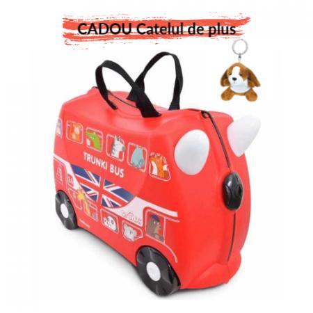 Valiza TRUNKI BORIS - London Bus Rosu0