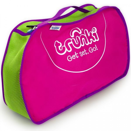 Set travel pentru copii - Valiza TRUNKI Flossy the Flamingo + Trunki Tidy Bag Pink - Trunki6
