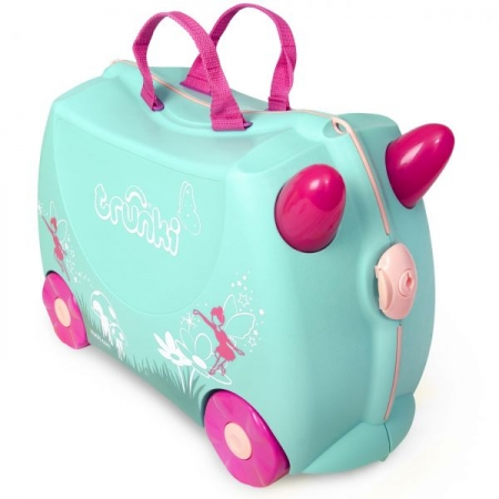 Set travel pentru copii Valiza TRUNKI Flora - Fairy + Trunki Tidy Bag Pink1
