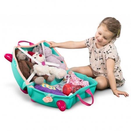 Set travel pentru copii Valiza TRUNKI Flora - Fairy + Trunki Tidy Bag Pink3